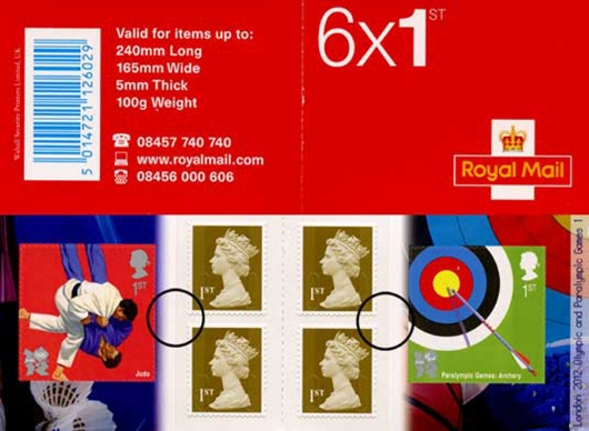 : Olympic Games: Book No. 1 Stamp Book