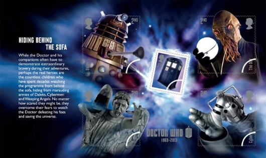 Prestige Stamp Book: Doctor Who - Pane 1