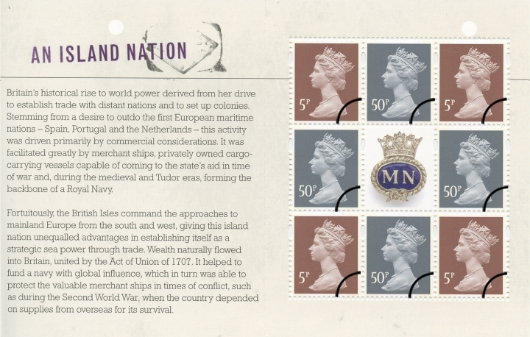 Prestige Stamp Book: Merchant Navy - Pane 1