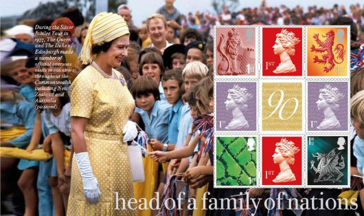 Prestige Stamp Book: H M The Queen's 90th Birthday - Pane 3