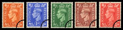 KGVI: Definitives Colour Change