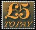 £5 Orange and Black [To Pay Labels]