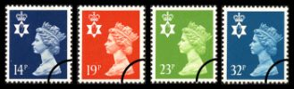 Northern Ireland 14p, 19p, 23p, 32p
