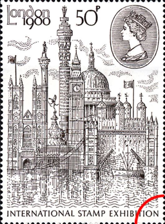 London 1980: 50p Stamp Stamp(s)