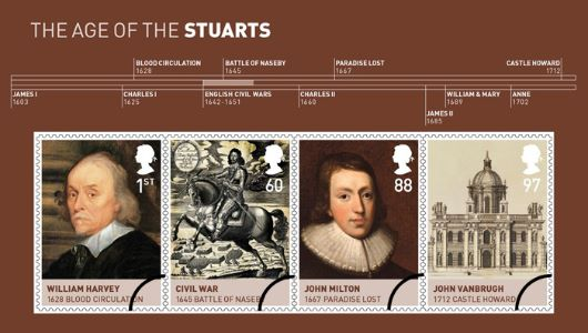 The Stuarts: Miniature Sheet