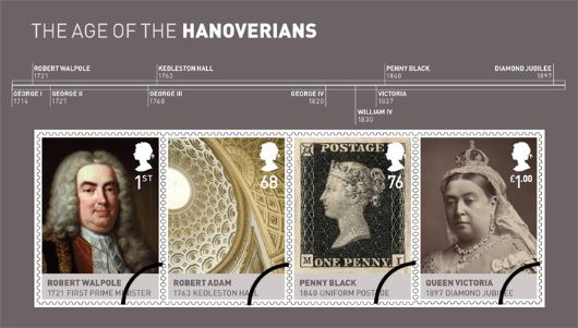 The Hanoverians: Miniature Sheet