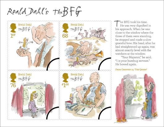 Roald Dahl: Miniature Sheet