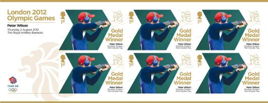 Shooting - Men's Double Trap: Olympic Gold Medal 4: Miniature Sheet