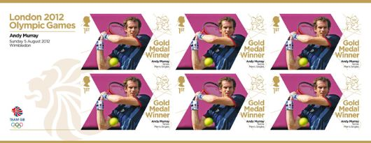 Tennis - Men's Singles: Olympic Gold Medal 16: Miniature Sheet