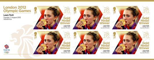 Cycling - Track - Women's Omnium: Olympic Gold Medal 21: Miniature Sheet