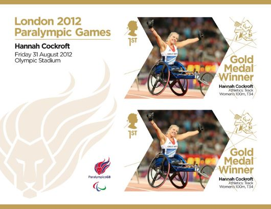 Athletics - Women's 100m T34: Paralympic Gold Medal 4: Miniature Sheet