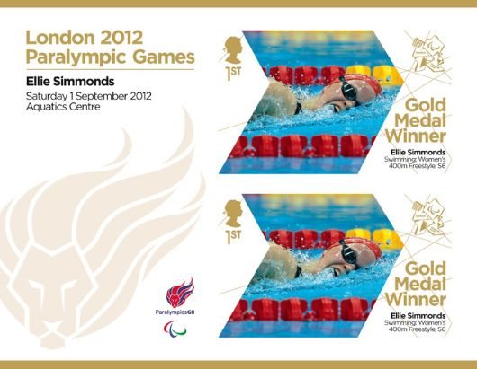 Swimming - Women's 400m Freestyle S6: Paralympic Gold Medal 9: Miniature Sheet
