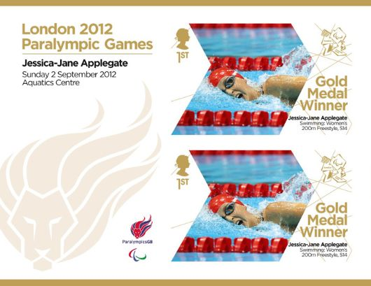 Swimming - Women's 200, Freestyle, S14: Paralympic Gold Medal 13: Miniature Sheet