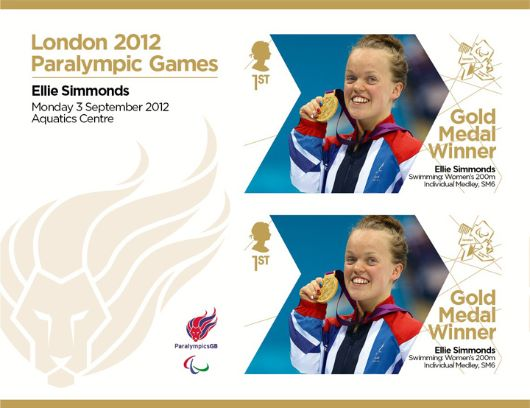 Swimming - Women's 200m Individual Medley, SM6: Paralympic Gold Medal 17: Miniature Sheet