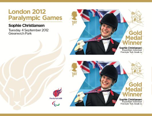 Equestrian - Individual Freestyle Test, Grade Ia: Paralympic Gold Medal 21: Miniature Sheet