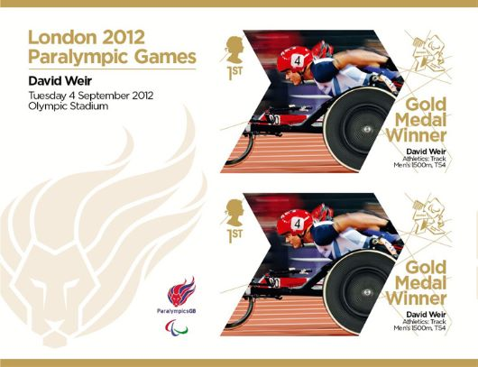 Athletics - Track - Men's 1500m T54: Paralympic Gold Medal 22: Miniature Sheet