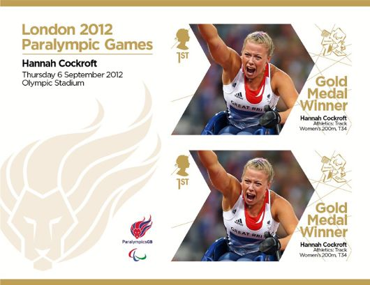 Athletics - Track - Women's 200m, T34: Paralympic Gold Medal 29: Miniature Sheet