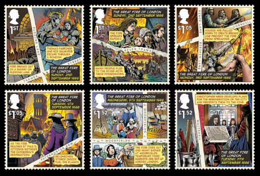 The Great Fire of London Stamp(s)