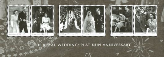 Platinum Wedding: Miniature Sheet