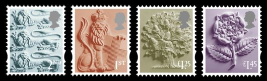 England 2nd, 1st, £1.25 £1.45 Stamp(s)