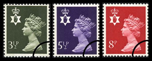 Northern Ireland 3 1/2p, 5 1/2p, 8p Stamp(s)