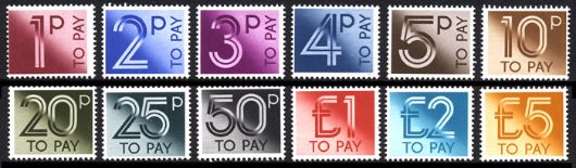 1p to £5 [To Pay Labels] Stamp(s)