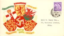 18.08.1958 Guernsey 3d Lilac Coats of Arms