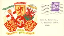 18.08.1958 Isle of Man 3d Lilac Coats of Arms