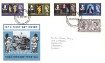 23.04.1964 Shakespeare Festival The Globe Royal Mail/Post Office
