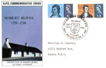 25.01.1966 Robert Burns Birthplace of Burns Alloway Royal Mail/Post Office