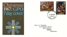 27.11.1967 Christmas 1967 (3d & 1/6d) The Nativity Royal Mail/Post Office