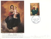 18.10.1967 Christmas 1967 (4d) Madonna and Child Stamp Publicity