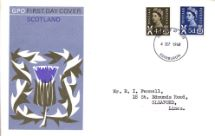04.09.1968 Scotland 4d Brown & 5d Blue The Scottish Thistle Royal Mail/Post Office