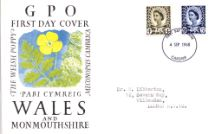 04.09.1968 Wales 4d Brown & 5d Blue The Welsh Poppy Royal Mail/Post Office