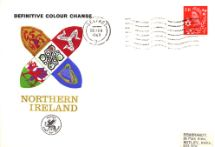 26.02.1969 Northern Ireland 4d Red Regional Coats of Arms & Stamps Wessex