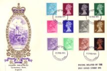 15.02.1971 Machins: Decimal Values Windsor Castle Philart, Delux No.0