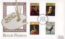 04.07.1973 British Paintings 1973 Brushes and Palette Thames Gold Embossed