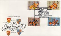 10.07.1974 Great Britons Heraldic Shields Royal Mail/Post Office