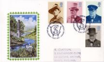 09.10.1974 Winston Churchill Churchill painting by river Textiles/Philately