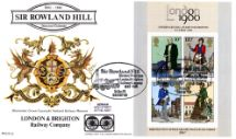 24.10.1979 Rowland Hill: Miniature Sheet London & Brighton Railway Company Benham, BOCS No.16