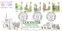 07.05.1980 London Landmarks Leicester Philatelic Society Bradbury, LFDC No.1