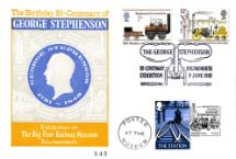 09.06.1981 George & Robert Stephenson George Stephenson Bicentenary Big 4 Rly Museum
