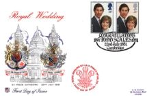 22.07.1981 Royal Wedding 1981 St Pauls die-stamped Stuart