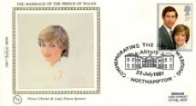 22.07.1981 Royal Wedding 1981 Lady Diana Spencer Benham, 1981 Small Silk No.5