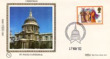 17.11.1982 Christmas 1982 St Pauls Cathedral Benham, 1982 Small Silk No.8.4