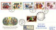 17.11.1982 Christmas 1982 Bethlehem Double Postmarks Royal Mail/Post Office