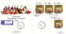 05.06.1984 Economic Summit Various cds postmarks Royal Mail/Post Office