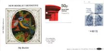 04.11.1985 Vending: New Design: 50p Pillar Box (1p Discount) Blue Tit Nesting Box Benham, D No.33