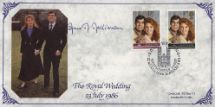 22.07.1986 Royal Wedding 1986 Lady Mayoress of London signed CoverCraft