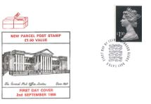 02.09.1986 Machins: Parcel Post: £1.50 The General Post Office circa 1840 Historic Relics